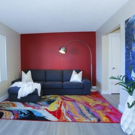 Spacious Living Room | Las Vegas Luxury Apartments | The Point on Flamingo