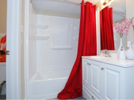 Spacious Master Bathroom   Luxury Apartments Near UNLV   The Point on Flamingo