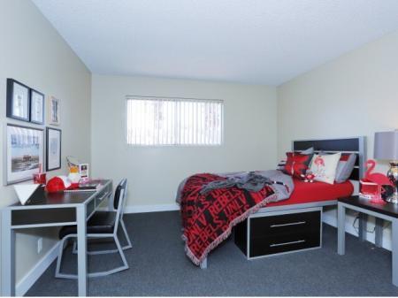 Spacious Master Bedroom   Luxury Apartments Near UNLV   The Point on Flamingo
