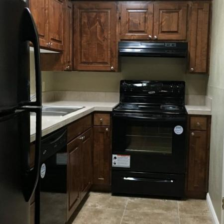 Wood Cabinetry Kitchen | Raintree Commons Apartments | Apartments in Provo Utah