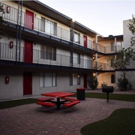 Fenced-in Courtyard | 2 Bedroom Apartments For Rent In Las Vegas | The Point on FlamingoBeautifully Landscaped Grounds | Unlv Off Campus Housing | The Point on Flamingo