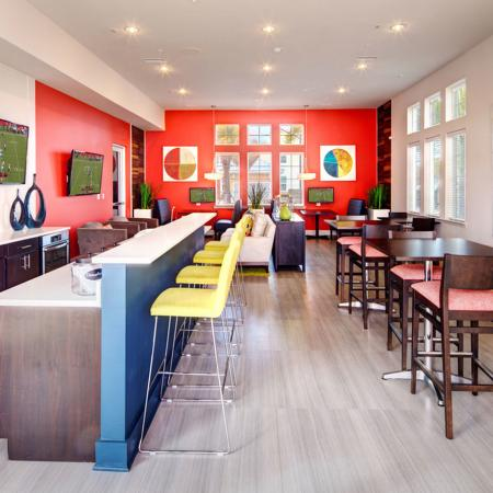 Resident Clubhouse with Televisions and Seating