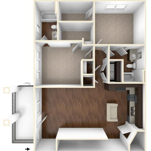 A 3D Drawing of the B3 Floor Plan