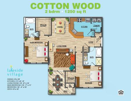 Cotton Wood A 2x2