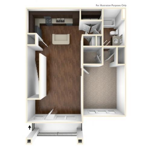 A 3D Drawing of the A3U Floor Plan