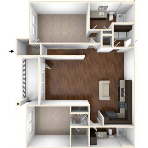 A 3D Drawing Of The B4GU Floor plan