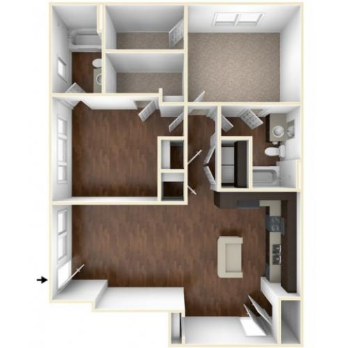 A 3D Drawing of the B1GU Floor Plan