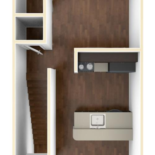 A 3D Drawing of the S2U Floor Plan
