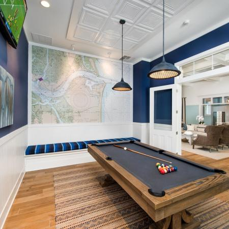 clubroom side room with billiards table