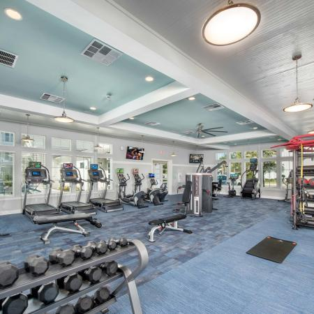 fitness center with high-end equipment