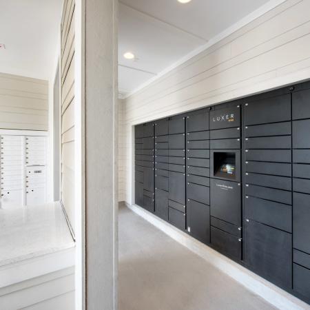 mail room with package center