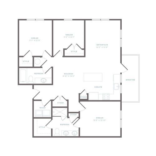 C1 - Talbot Floor Plan