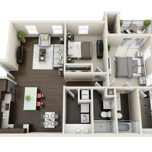 Cyan Floor Plan