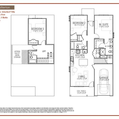 Fullerton floor plan