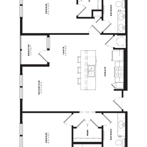 B2 Alt 1 Floor Plan