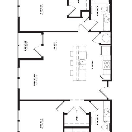 B2 Alt 2 Floor Plan