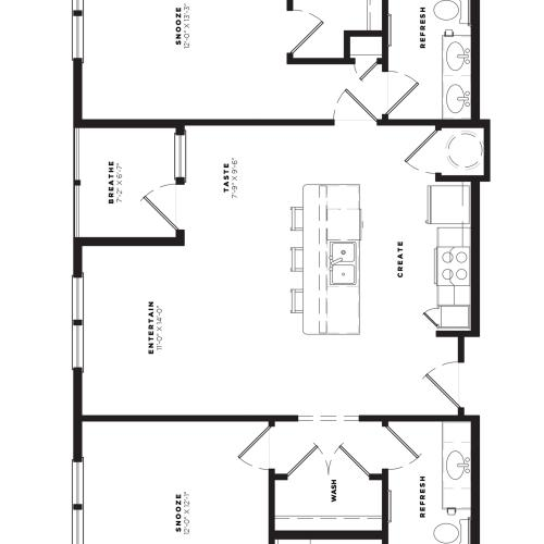 B2 Alt 4 Floor Plan