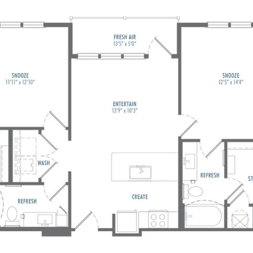 B1 Alt 2 Floor Plan