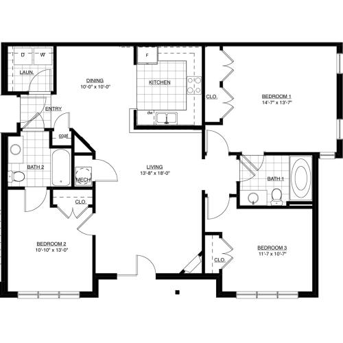 Chinkapen Floor Plan Image