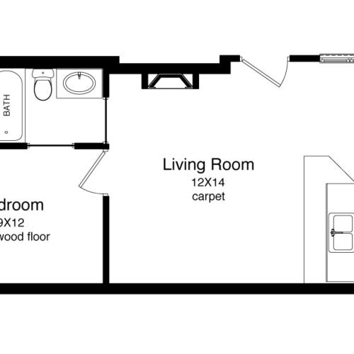 A1-541 Square Foot Floor Plan Image