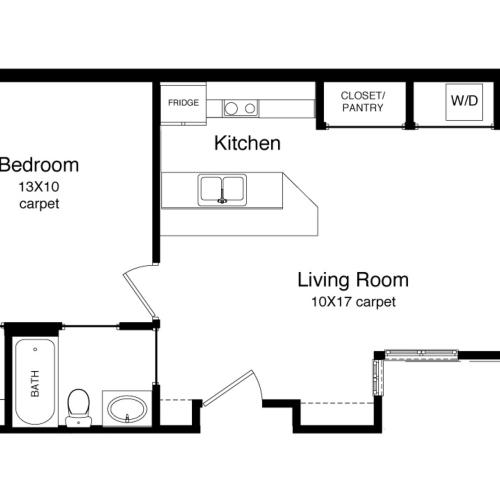 A1-654 Square Foot Floor Plan Image