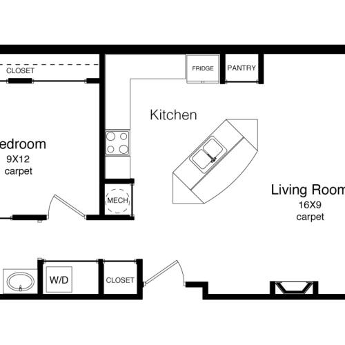 A2-671 Square Foot Floor Plan Image