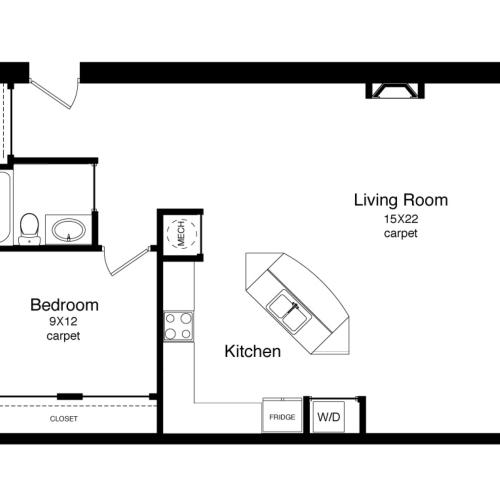 A3-800 Square Foot Floor Plan Image