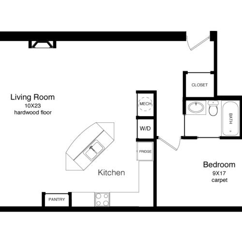 A3-948 Square Foot Floor Plan Image