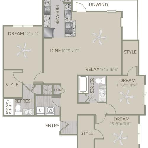 floor plan drawing of c1