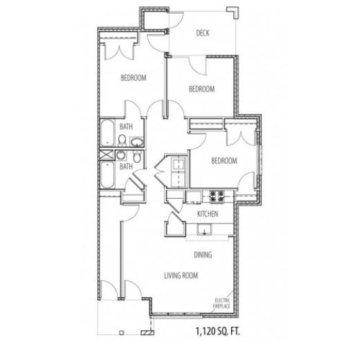 rendering of floor plan