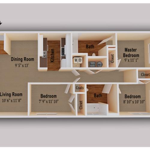 Glen Burnie Apartments: 1 Bed / 1 Bath Apartment In Glen Burnie MD