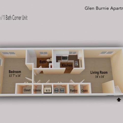 Large corner unit with extra windows