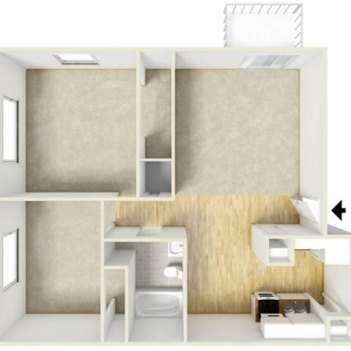 2 Bedroom Floor Plan | Farmington Place 2