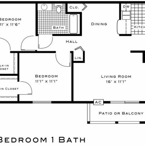 Sugar Plum Apartments two bedroom floor plan