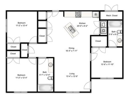 3 Bedroom Partial Renovated Apartment